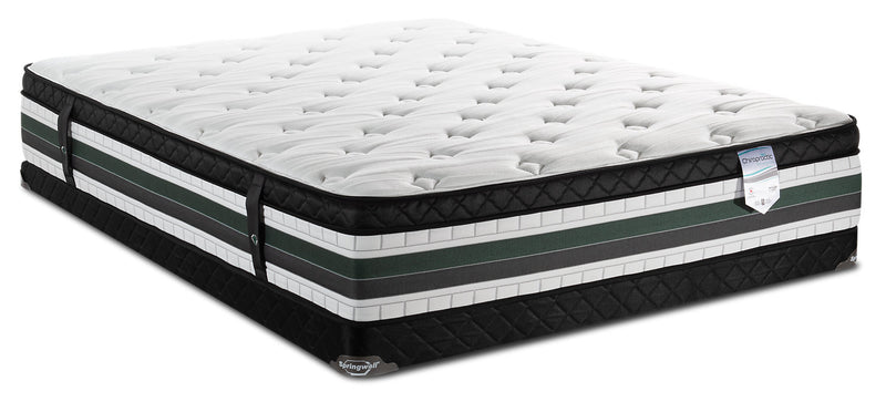 Springwall Manhattan Eurotop Low-Profile Full Mattress Set|Ensemble matelas à Euro-plateau à profil bas Manhattan de Springwall pour lit double|MHATTLFP