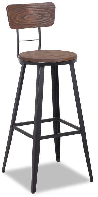 Mica Bar Stool - {Modern} style Bar Stool in Dark Brown {Metal}