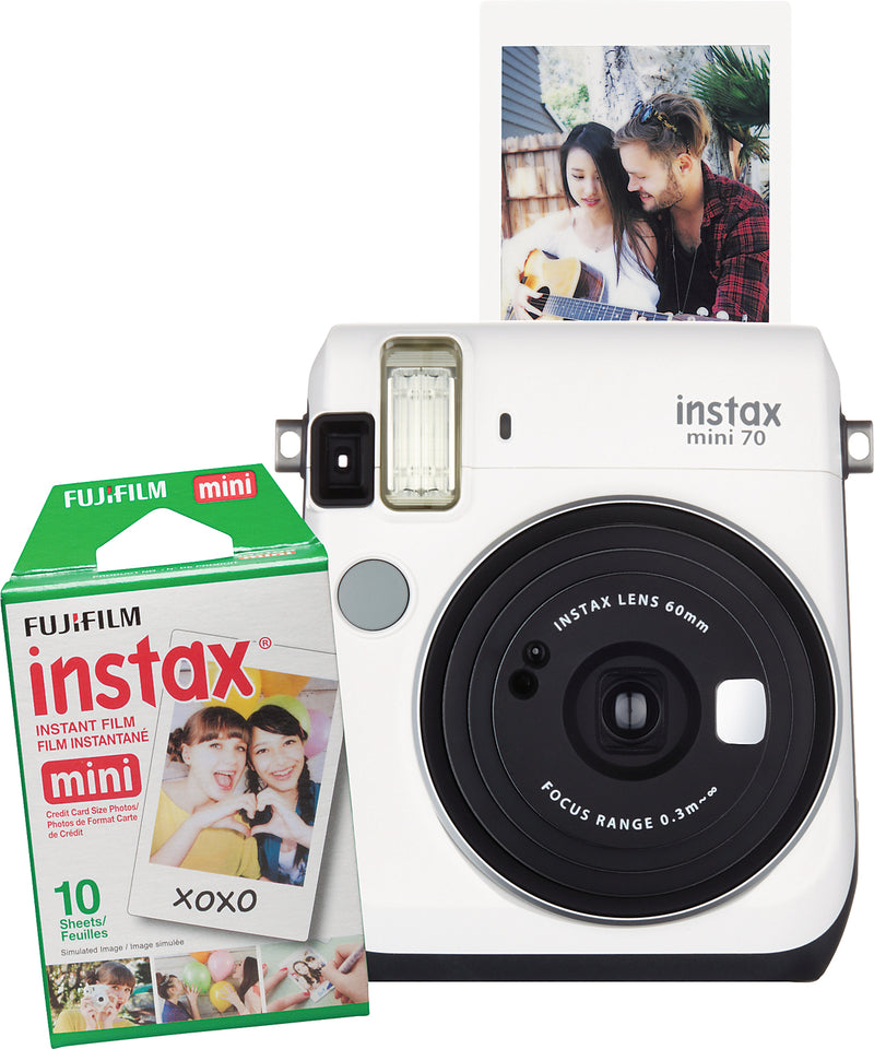 Fujifilm instax® mini 70 Camera - White|Appareil photo Fujifilm Instax mini - blanc