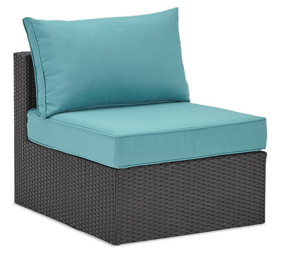 Minnesota Armless Patio Chair - Blue|Fauteuil sans accoudoirs Minnesota pour la terrasse - bleu|MINNB0AM