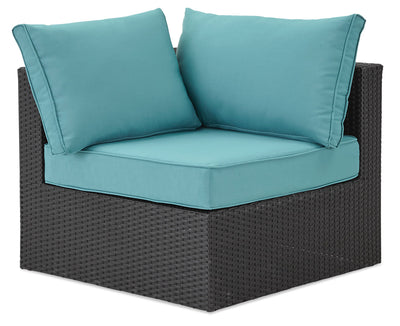 Minnesota Corner Patio Chair - Blue|Fauteuil en coin Minnesota pour la terrasse - bleu|MINNB0CS