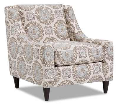 Mira Fabric Accent Chair - Brianne Twilight|Fauteuil d'appoint Mira en tissu - Brianne crépuscule|MIRABTAC