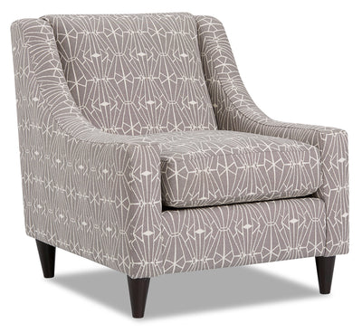 Mira Chenille Accent Chair - Emblem Charcoal