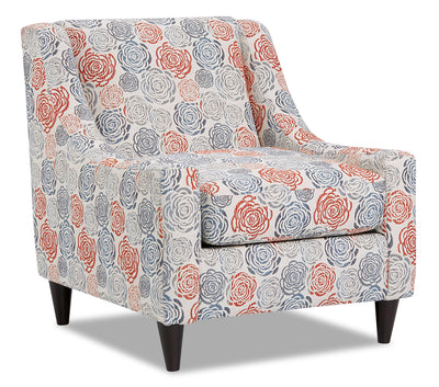 Mira Fabric Accent Chair - Palm Beach Lapis|Fauteuil d'appoint Mira en tissu - Palm Beach lapis|MIRAPBAC