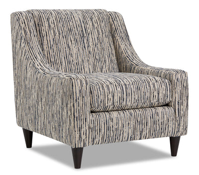 Mira Chenille Accent Chair - Local Colour Steel|Fauteuil d'appoint Mira en chenille - acier couleur locale|MIRASTAC