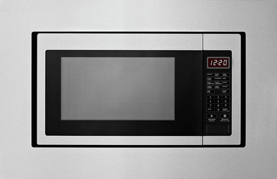 "Whirlpool 27"" Trim Kit for 1.6 Cu. Ft. Countertop Microwave Oven - MK2167AS - Trim Kit in Stainless Steel"