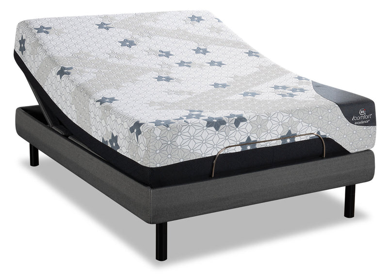 Serta iComfort Excellence Magnitude King Mattress with Motion Perfect IV Adjustable Base|Matelas Magnitude iComfortMD Excellence Serta très grand lit et base ajustable Motion Perfect IV|MMP4ADKP