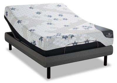 Serta iComfort Excellence Magnitude Twin XL Mattress with Motion Perfect IV Adjustable Base|Matelas Magnitude iComfortMD Excellence Serta lit simple très long, base ajustable Motion Perfect IV|MMP4JXTP