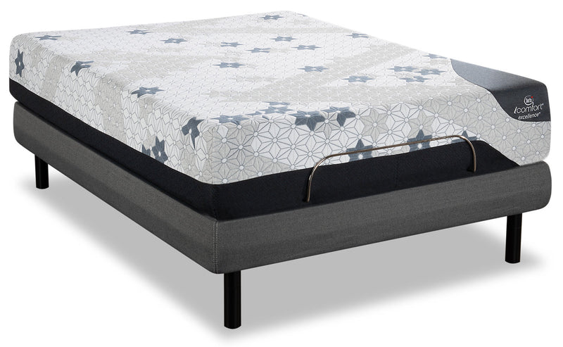 Serta iComfort Excellence Magnitude Twin XL Mattress with Motion Perfect IV Adjustable Base|Matelas Magnitude iComfortMD Excellence Serta lit simple très long, base ajustable Motion Perfect IV