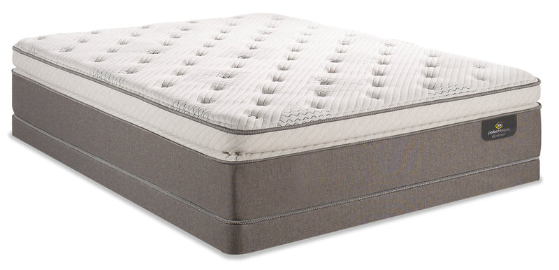 Serta Perfect Sleeper iCollection Mandalay Super Pillowtop Low-Profile Queen Mattress Set|Ensemble plateau-coussin épais profil bas Mandalay iCollection Perfect Sleeper Serta pour grand lit