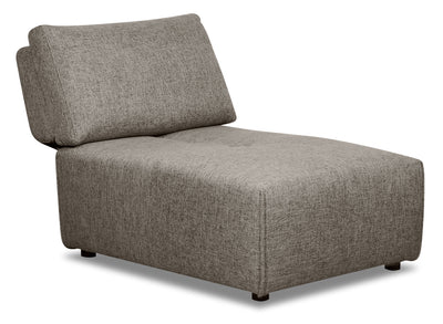 Modera Linen-Look Fabric Armless Chair - Grey - {Modern} style Chair in Grey {Pine}, {Plywood}