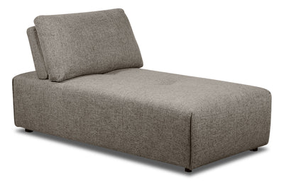 Modera Linen-Look Fabric Armless Chaise - Grey - {Modern} style Chaise in Grey {Pine}, {Plywood}