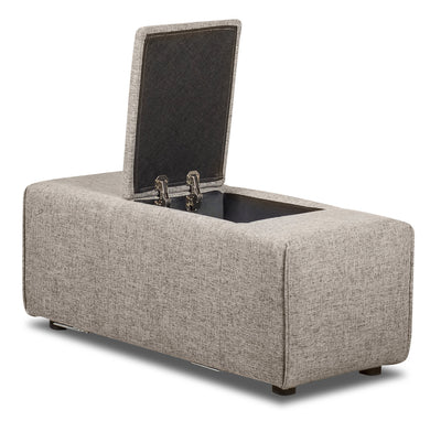 Modera Linen-Look Fabric Storage Console - Grey - {Modern} style Console in Grey {Pine}, {Plywood}