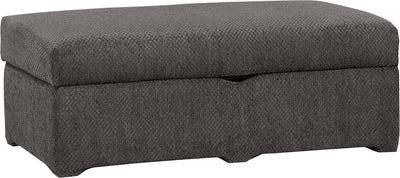 Morty Chenille Storage Ottoman - Grey|Pouf de rangement Morty en chenille - gris|MORTGOTT