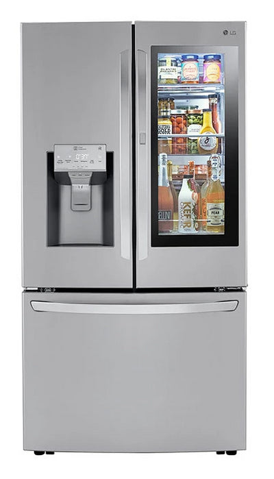 "LG 30 Cu. Ft. 36"" InstaView Door-in-Door® with Craft Ice Maker - LRFVS3006S - Refrigerator in Fingerprint-Resistant Stainless Steel"