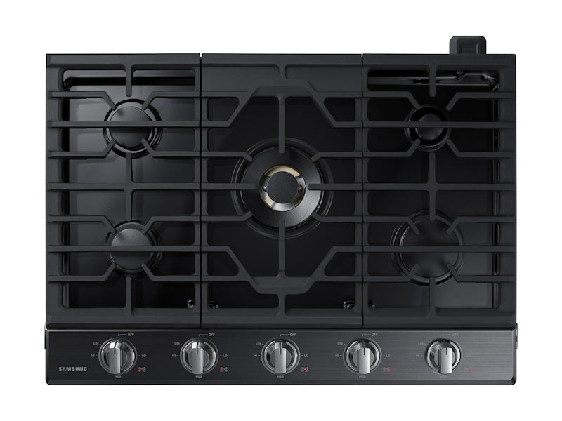 "Samsung 30"" 5-Burner Gas Cooktop with Bluetooth - NA30N7755TG/AA - Gas Cooktop in Black Stainless"