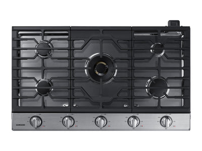 "Samsung 36"" 5-Burner Gas Cooktop with Bluetooth - NA36N7755TS/AA - Gas Cooktop in Stainless Steel"