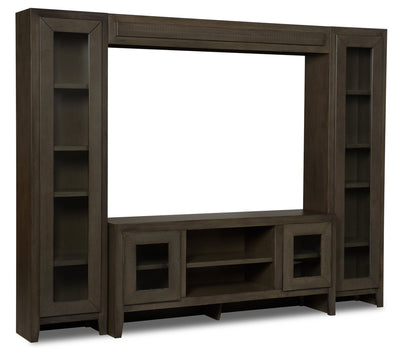 "Napa 4-Piece Entertainment Centre with 66"" Opening - Grey"