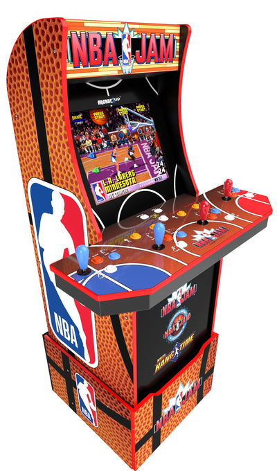 Arcade1Up Arcade Cabinet - Arcade1Up NBA Jam Wi-Fi Enabled Four-Player At-Home Arcade with Platform