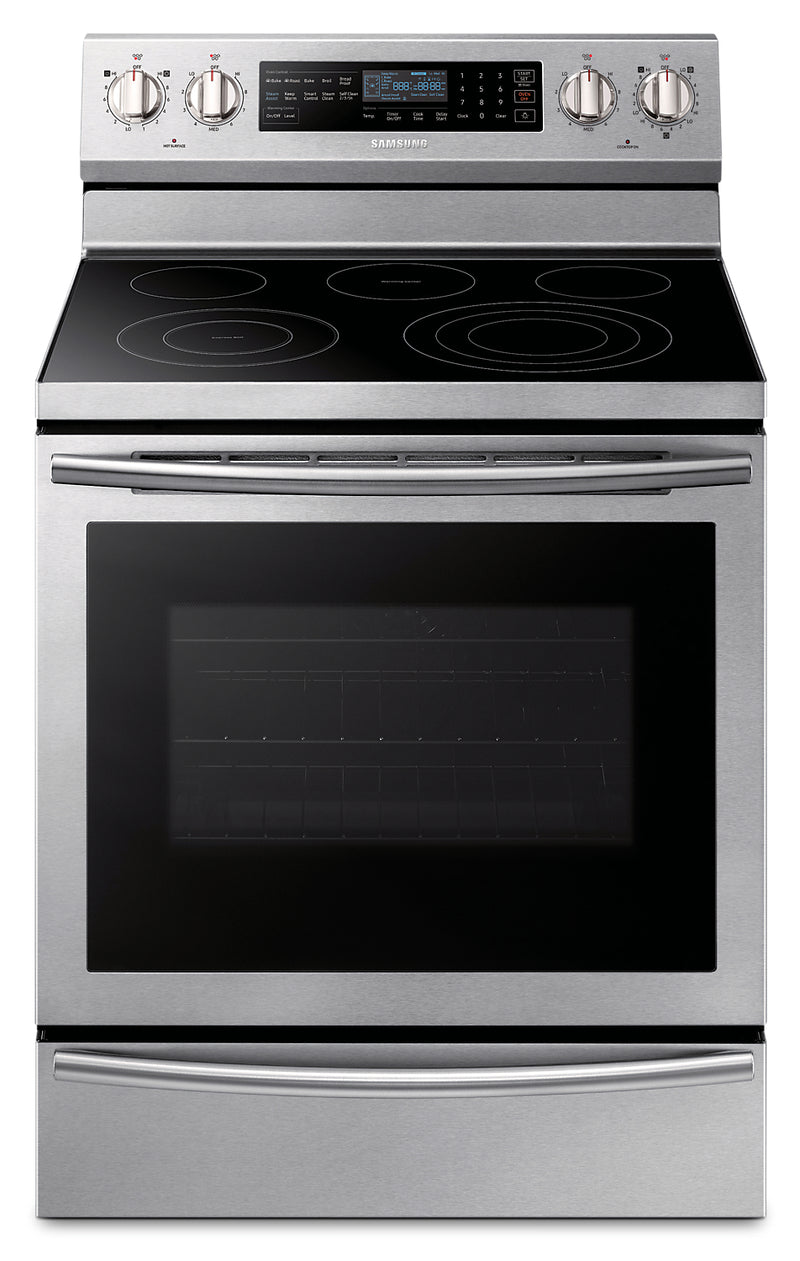 Samsung 5.9 Cu. Ft. Freestanding Electric Range with True Convection – NE59N6650WS/AC|Cuisinière électrique amovible Samsung de 5,9 pi3 avec convection véritable – NE59N6650WS/AC