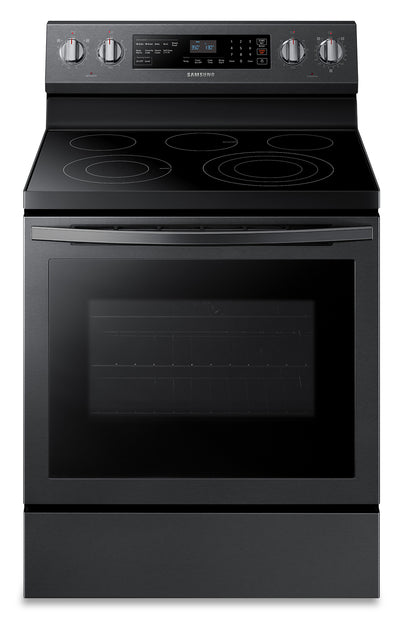 Samsung 5.9 Cu. Ft. Freestanding Front-Control Range with 3.3 kW Rapid Boil™ - NE59R6631SG/AC - Electric Range in Black Stainless Steel