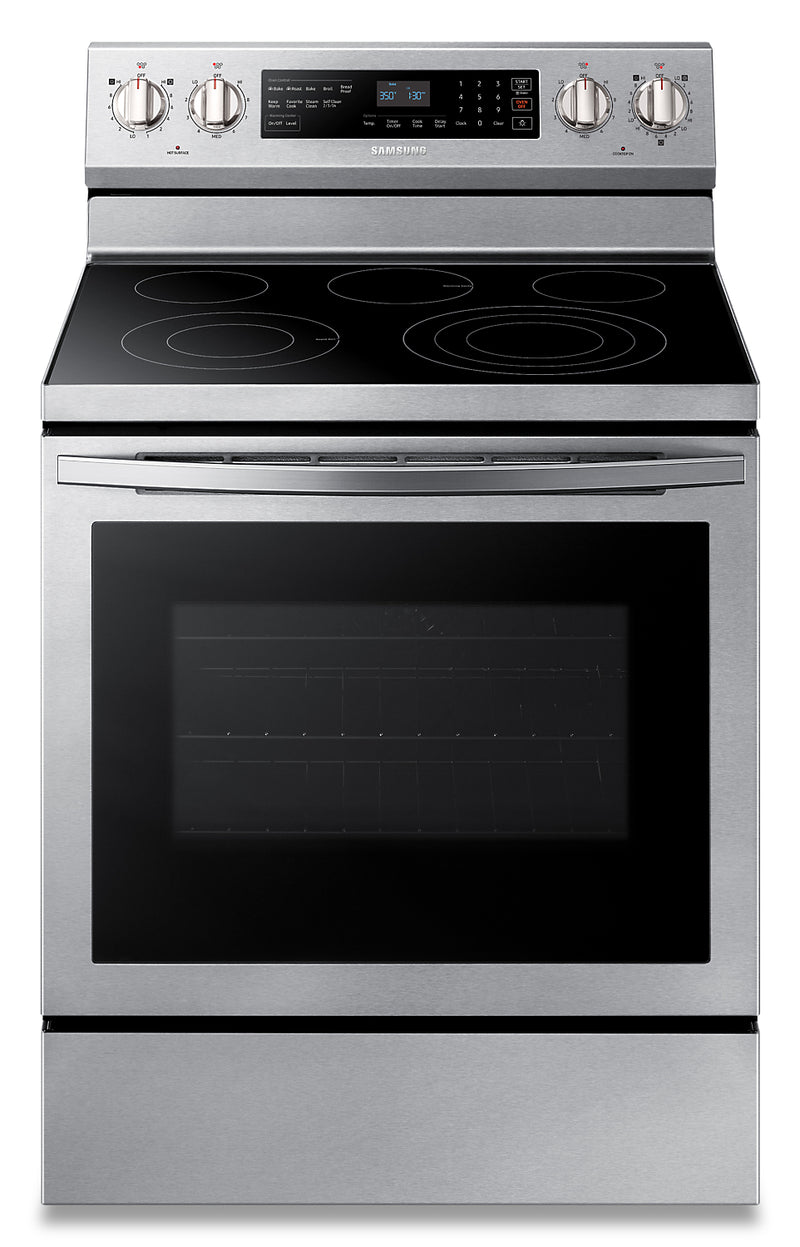 Samsung 5.9 Cu. Ft. Freestanding Front-Control Range with 3.3 kW Rapid Boil™ - NE59R6631SS/AC - Electric Range in Stainless Steel