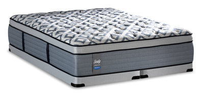 Sealy Posturepedic Crown Luxe Newbury Port Eurotop Low-Profile Split Queen Mattress Set|Ensemble à Euro-plateau profil bas divisé Newbury Port Posturepedic Crown Luxe Sealy pour grand lit|NEWPLSQP