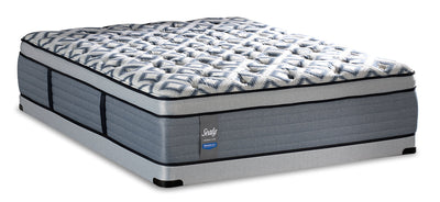 Sealy Posturepedic Crown Luxe Newbury Port Eurotop Low-Profile Queen Mattress Set|Ensemble à Euro-plateau à profil bas Newbury Port Posturepedic Crown Luxe Sealy pour grand lit|NEWPRLQP