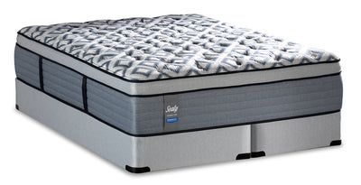 Sealy Posturepedic Crown Luxe Newbury Port Eurotop King Mattress Set|Ensemble matelas à Euro-plateau Newbury Port Posturepedic Crown Luxe de Sealy pour très grand lit|NEWPRTKP