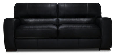 Nile 100% Genuine Leather Sofa - Black|Sofa Nile en cuir 100 % véritable - noir|NILEBKSF