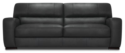 Nile 100% Genuine Leather Sofa - Grey|Sofa Nile en cuir 100 % véritable - gris|NILEGYSF