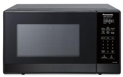 Panasonic 0.9 Cu. Ft. 900 W Compact Countertop Microwave - NNSG448S - Countertop Microwave in Black Stainless Steel, Black