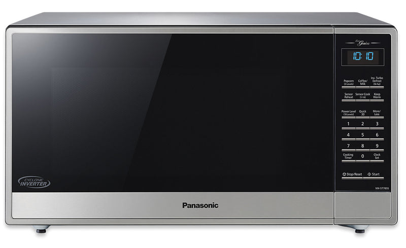 Panasonic 1.6 Cu. Ft. 1,200 W Countertop Microwave with Cyclonic Inverter - NN-ST785S|Four à micro-ondes de comptoir Panasonic de 1,6 pi3 avec une puissance de 1200 W et la technologie InverterMC cyclonique - NN-ST785S