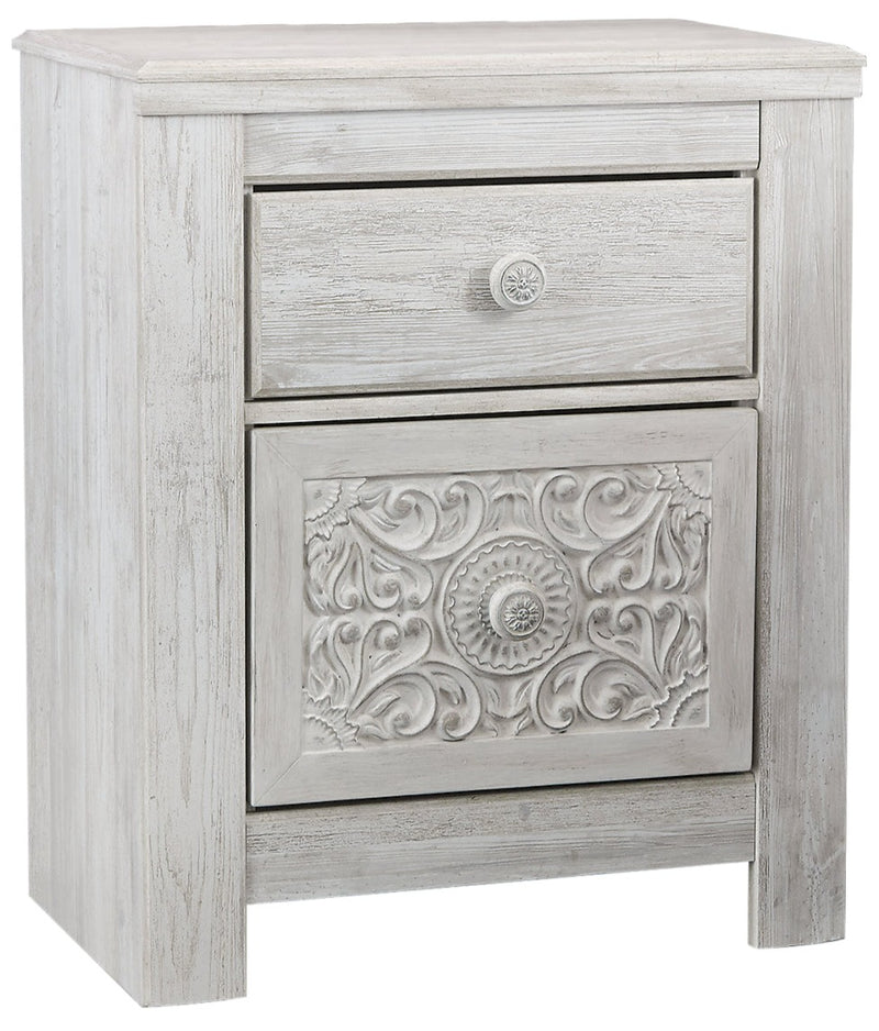 Nola Nightstand - {Traditional} style Nightstand in White Wash {Engineered Wood}