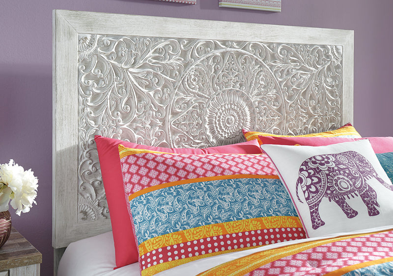 Nola Full Headboard - {Traditional} style Headboard in White Wash {Engineered Wood}