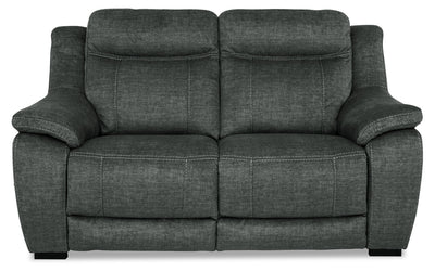 Novo Fabric Loveseat - Grey - {Contemporary} style Loveseat in Grey {Solid Hardwoods}