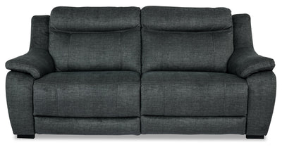 Novo Fabric Power Reclining Sofa - Grey - {Contemporary} style Sofa in Grey {Solid Hardwoods}