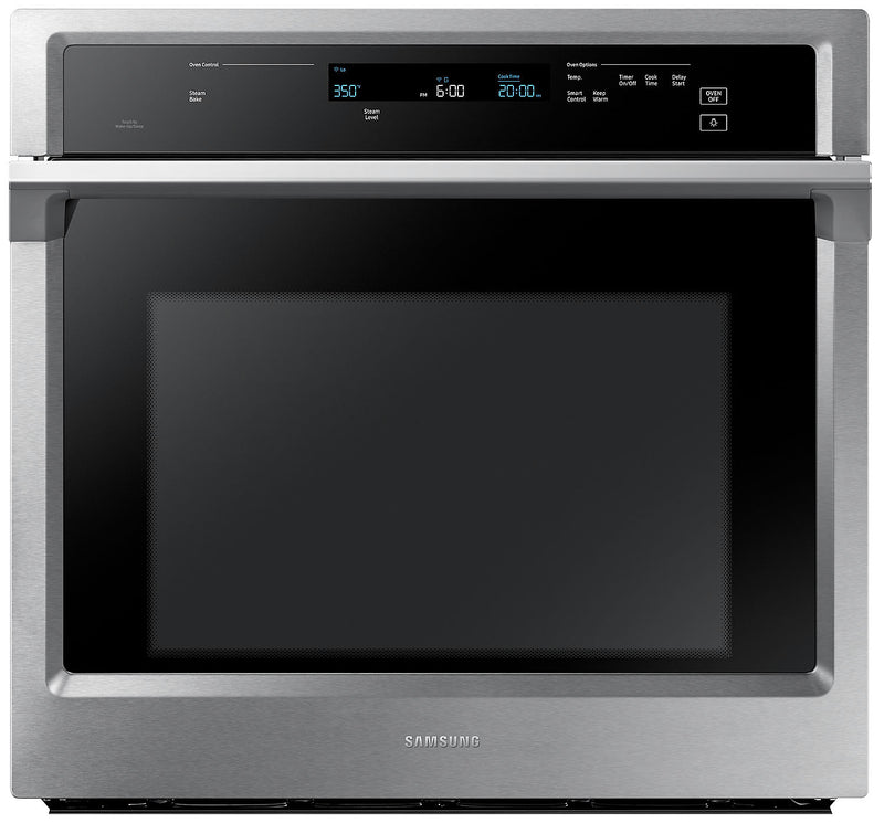 Samsung 5.1 Cu. Ft. Convection Wall Oven with Steam Bake - NV51K6650SS|Four mural Samsung de 5,1 pi3 à convection avec cuisson à la vapeur - NV51K6650SS