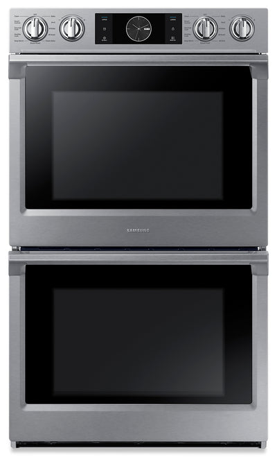 Samsung 10.2 Cu. Ft. Convection Double Oven with Steam Bake and Flex Duo - NV51K7770DS/AA - Double Wall Oven in Stainless Steel