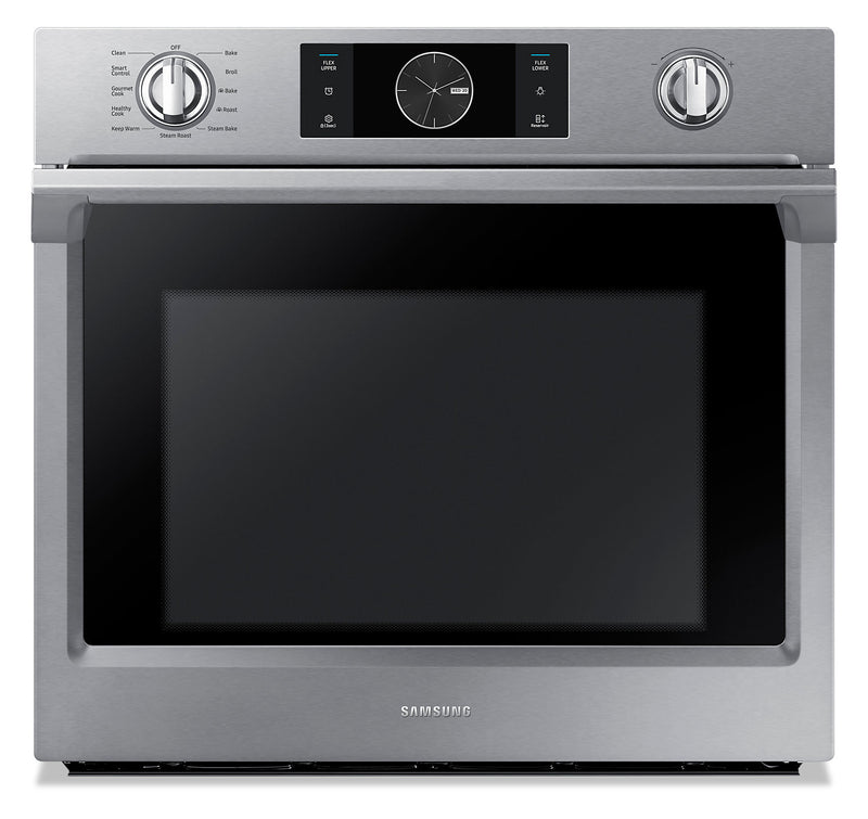Samsung 5.1 Cu. Ft. Convection Wall Oven with Steam Bake - NV51K7770SS/AA|Four mural Samsung de 5,1 pi3 à convection avec cuisson à la vapeur - NV51K7770SS/AA