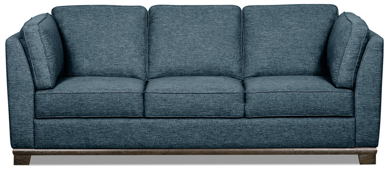Oakdale Linen-Look Fabric Sofa - Blue - {Contemporary} style Sofa in Blue {Pine}, {Plywood}