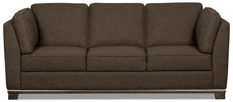Oakdale Linen-Look Fabric Sofa - Tobacco - {Contemporary} style Sofa in Tobacco {Pine}, {Plywood}