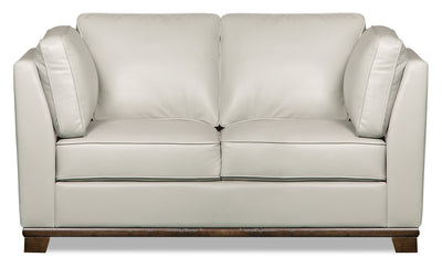 Oakdale Leather-Look Fabric Loveseat - Beige|Causeuse Oakdale en tissu d'apparence cuir - beige|OAKLBELV