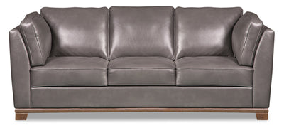 Oakdale Leather-Look Fabric Sofa - Grey|Sofa Oakdale en tissu d'apparence cuir - gris|OAKLGYSF