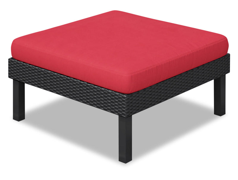 Oakland Patio Ottoman – Red|Pouf Oakland pour la terrasse - rouge