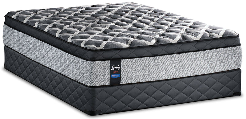 Sealy Posturepedic Proback Ocean Drive Eurotop Low-Profile King Mattress Set|Ensemble Euro-plateau profil bas Ocean Drive PosturepedicMD PROBACKMD Sealy pour très grand lit
