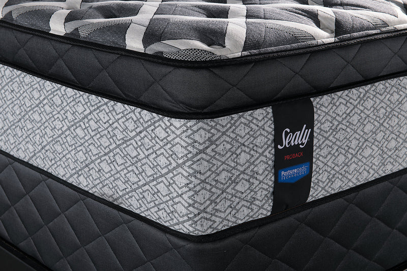 Sealy Posturepedic Proback Ocean Drive Eurotop Low-Profile Full Mattress Set