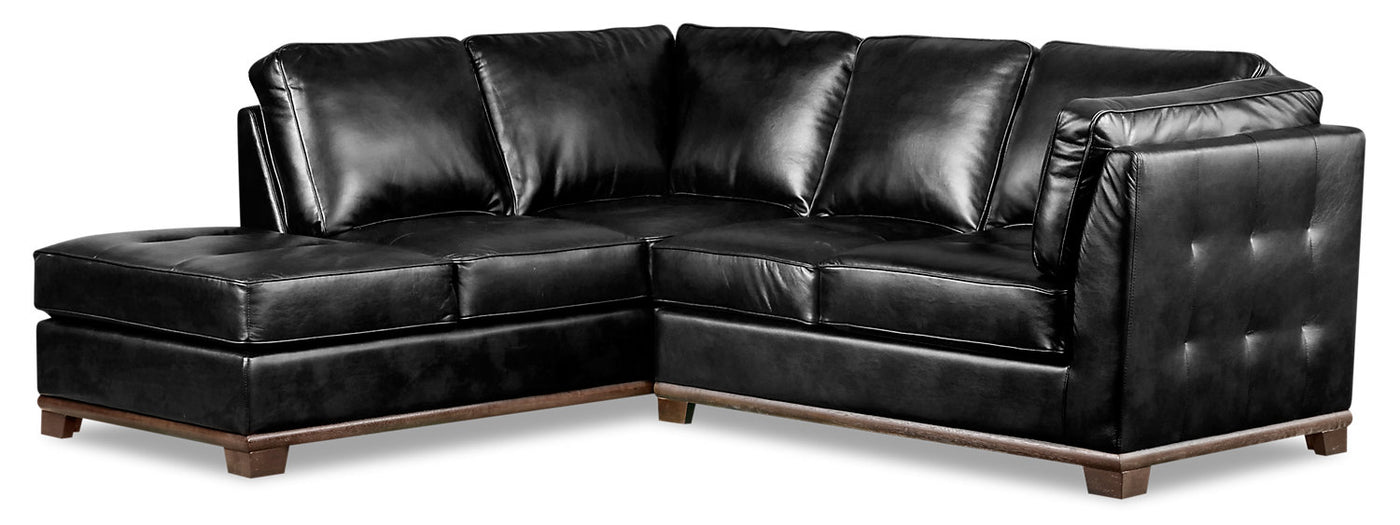 Strange Oakdale 2 Piece Leather Look Fabric Left Facing Twin Size Sofa Bed Sectional Black Download Free Architecture Designs Scobabritishbridgeorg