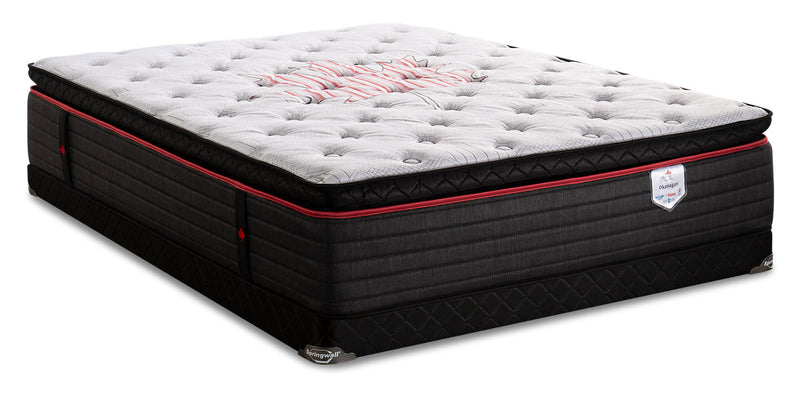 Springwall True North Chiropractic Okanagan Pillowtop Low-Profile Queen Mattress Set|Ensemble à plateau-coussin à profil bas True North Okanagan Chiropractic Springwall pour grand lit