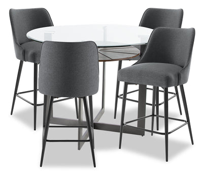 Olson 5-Piece Counter-Height Dining Room Set - Grey|Ensemble de salle à manger Olson 5 pièces de hauteur comptoir - gris|OLSOGCP5
